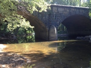 The iconic  limestone train bridge near the mouth of Sleepy Creek