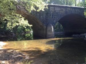 The iconic limestone train bridge near the mouth of Sleepy Creek