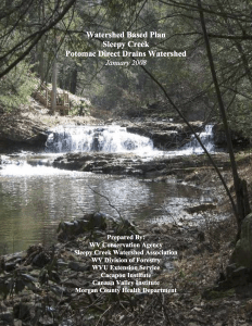Watershed Based Plan for Sleepy Creek