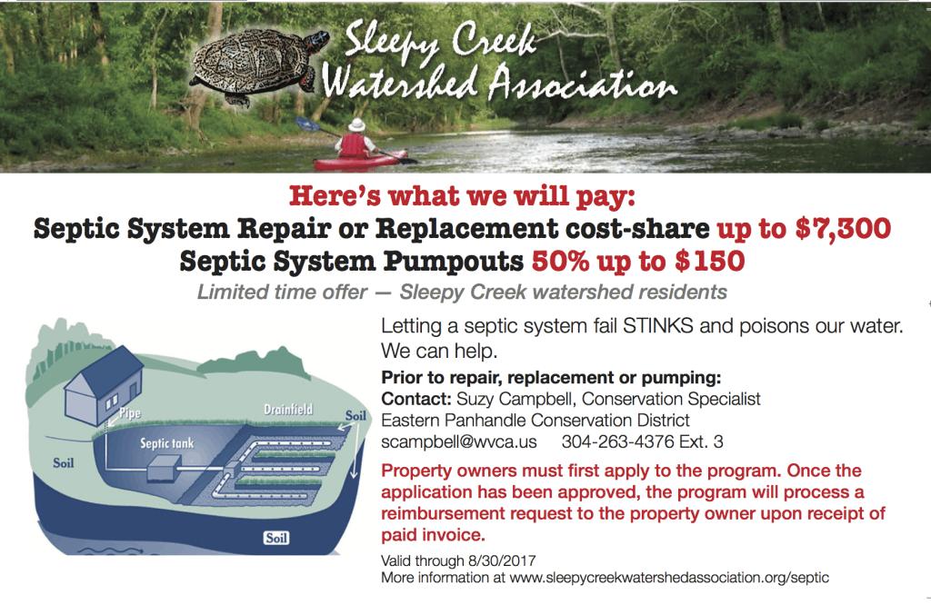 Sleepy Creek septic coupon press rev