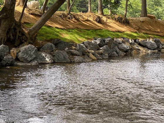 Edminsten streambank erosion after project completion